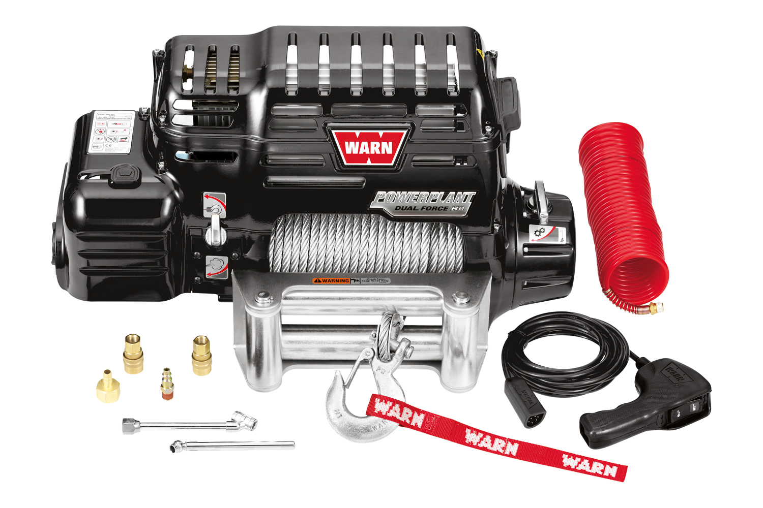 Warn PowerPlant Dual Force HP Electric Winch with Air Compressor